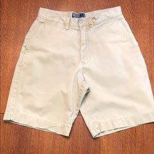Flat front Polo Ralph Lauren shorts.  Size 30